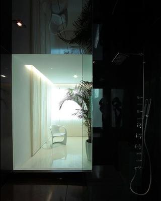 家装室内玻璃隔断门效果图
