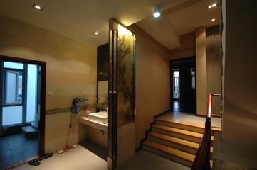 现代简约别墅设计卫生间楼梯
