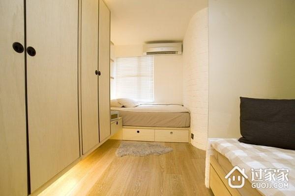 69平简约两居案例欣赏卧室衣柜