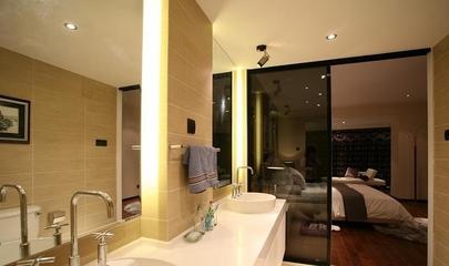 黄色简约风格效果图欣赏洗手间