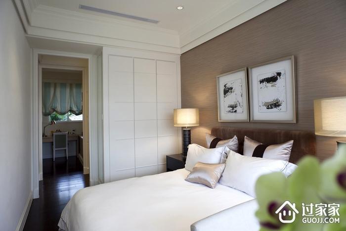 新古典三居室样板房案例欣赏卧室衣柜