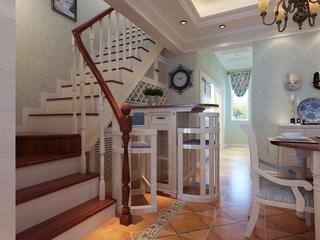 田园温馨小别墅欣赏楼梯间