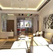 107平简约三居室设计欣赏客厅吊顶