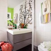 50平波西米亚北欧住宅欣赏卫生间