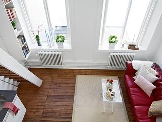 白色现代风一居室欣赏客厅窗户