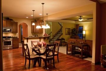 美式乡村风格效果图厨房餐桌