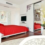 简约风格卧室床效果图 80后小伙浪漫的婚房