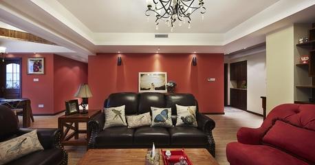 122平现代舒适三居欣赏客厅局部