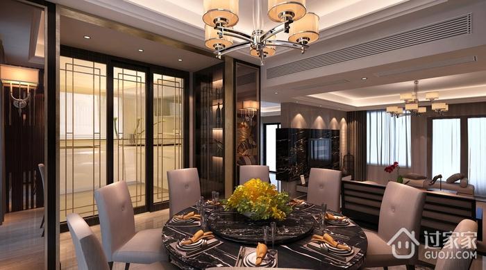 餐厅灯饰装修效果图 浪漫新中式家居