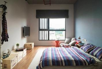 115平现代个性公寓欣赏卧室