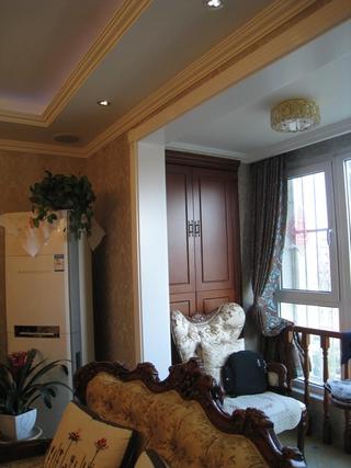 111平美式三居室欣赏卧室吊顶