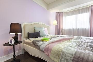 白色淡雅127平住宅欣赏卧室