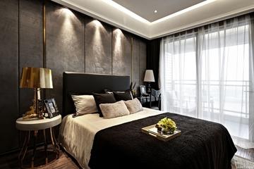 140平新古典黑金住宅欣赏卧室