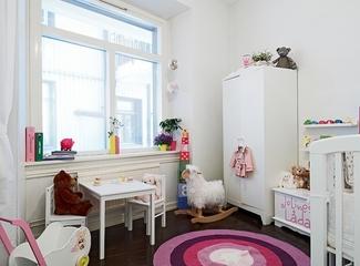 清新白色公寓欣赏儿童房