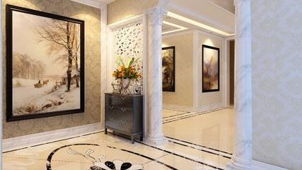 新古典三居室案例欣赏玄关隔断