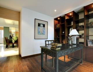 东南亚风格样板房欣赏书房