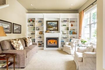 美式田园风格欣赏客厅壁柜