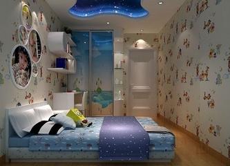 116平欧式风格住宅欣赏卧室效果