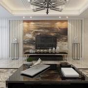 摩登现代客厅背景墙效果图 完美三口之家