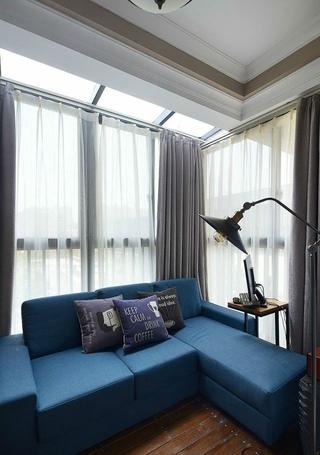 88平美式两居室案例欣赏客厅窗帘