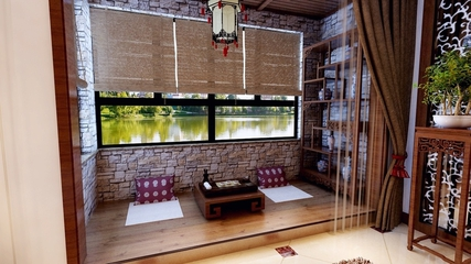 雅致新中式案例设计欣赏阳台榻榻米