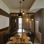 日式禅风三居室欣赏餐厅效果