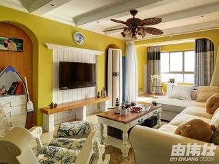 115平地中海住宅欣赏客厅