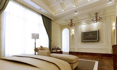 122平欧式奢华大宅欣赏卧室陈设