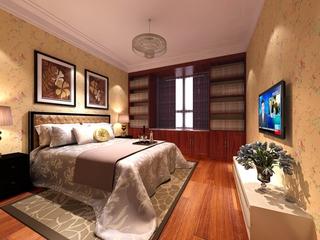 114平中式风住宅欣赏卧室