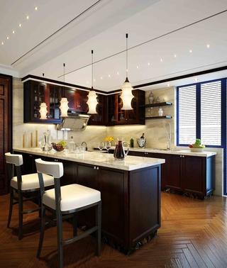 雅致新中式三居欣赏厨房灯饰
