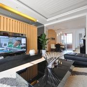 现代住宅设计效果客厅背景墙设计