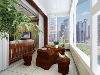 109平新中式住宅欣赏阳台设计