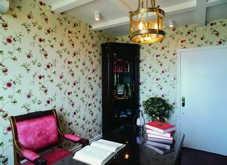 110平混搭装饰住宅欣赏书房
