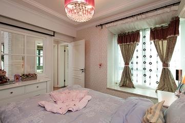 118平美式温馨三居欣赏卧室陈设