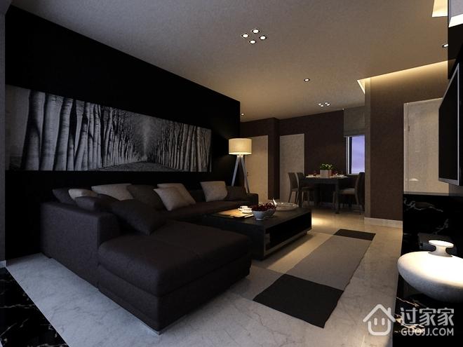 黑色精装现代住宅欣赏