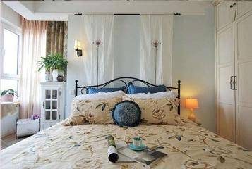 79平地中海小清新住宅欣赏卧室窗帘