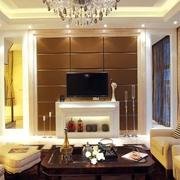 欧式住宅设计套图客厅电视背景墙设计
