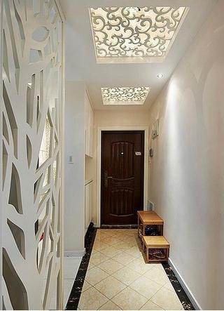 60平简约公寓设计欣赏玄关吊顶