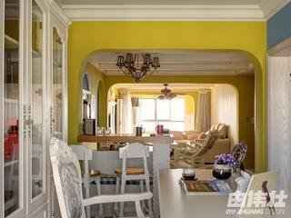 115平地中海住宅欣赏书房设计