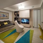 107平简约风格三居室欣赏客厅设计