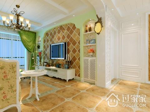 绚丽多彩的客厅背景墙效果图