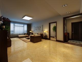 100平新中式三居室欣赏客厅吊顶
