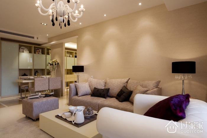 柔和舒适空间 简约客厅灯饰装修效果图