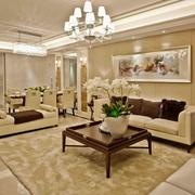 118平简欧效果图欣赏客厅设计