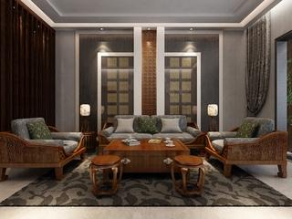 新中式典雅稳重住宅欣赏