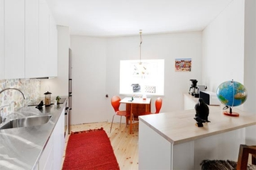 白色北欧小屋欣赏厨房橱柜
