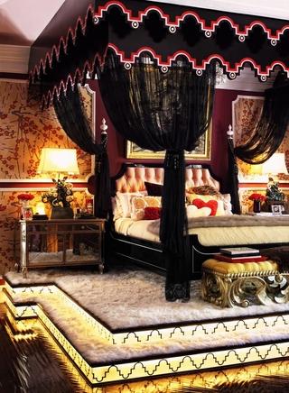 东南亚风格别墅装饰效果图欣赏卧室