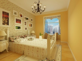 82平地中海住宅欣赏卧室
