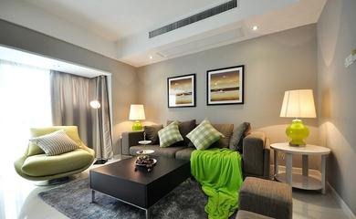 64平清爽两居室欣赏客厅吊顶设计