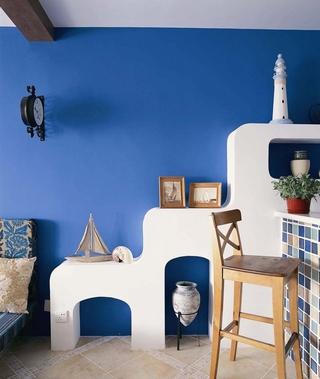 蓝色地中海住宅设计欣赏背景墙